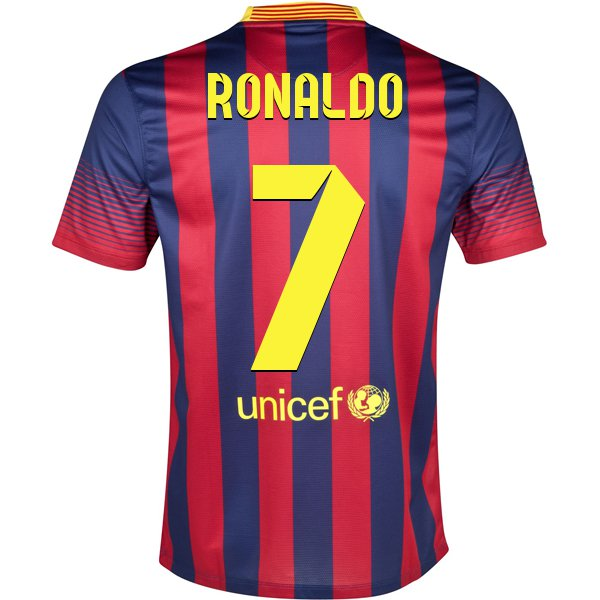 uk availability b616c 08d43 Design Your Own FC Barcelona Soccer Jersey! - RONALDO 7